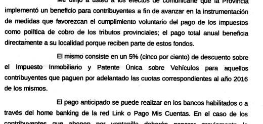 INGRESOS PUBLICOS – Municipalidad de Vera