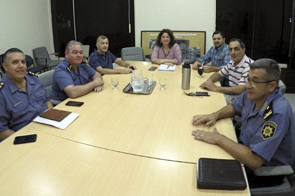 Paula Mitre se reunió con el Jefe de la UR XIX y el Fiscal Latorre